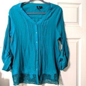 2/$10 Turquoise blouse.